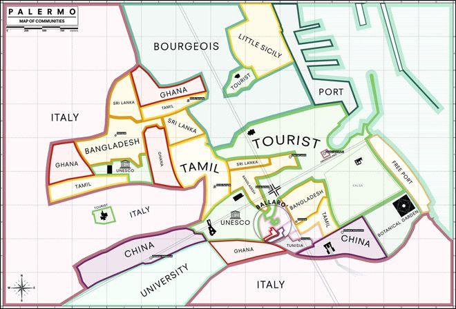 Mappa Palermo Comunità